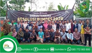 Diskusi terbuka resolusi BUMDES 2020