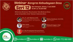 Konggress Kebudayaan Desa Seri Reformasi Birokrasi