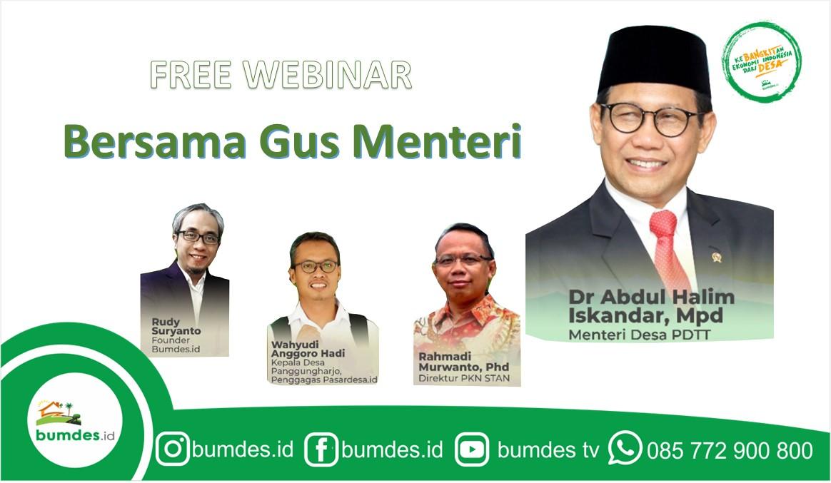 Webinar Bersama Gus Menteri