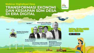Webinar Transformasi Ekonomi dan Kesiapan SDM Desa di Era Digital